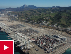 The construction of APM Terminals MedPort Tangier