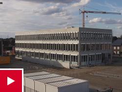 Timelapse video bouw nieuw kantoor in Hasselt